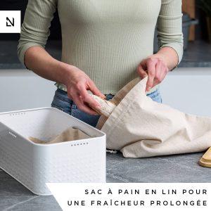 Boite à pain avec sac en lin LARS NYSØM